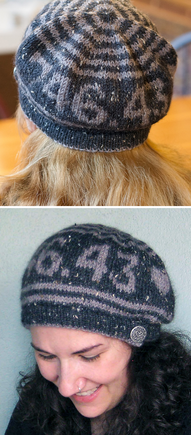 Free Pattern for Beret with Knitting Dewey Decimal Number