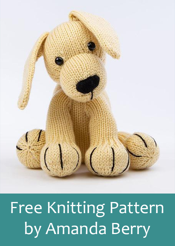 Free Knitting Pattern for Labrador by Amanda Berry