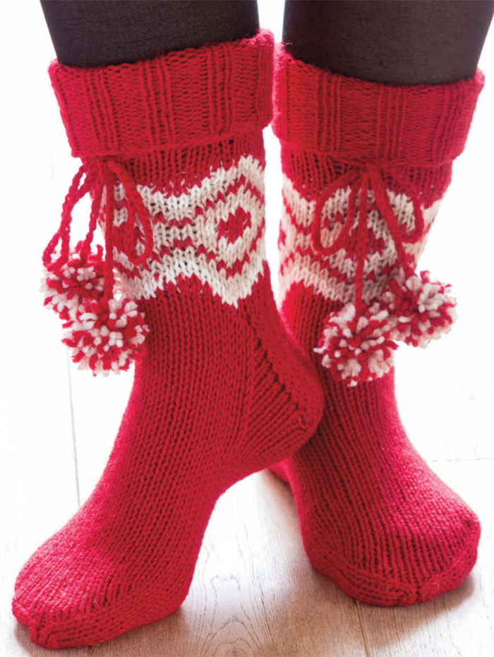 Free Knitting Pattern for Diamond Slipper Boots
