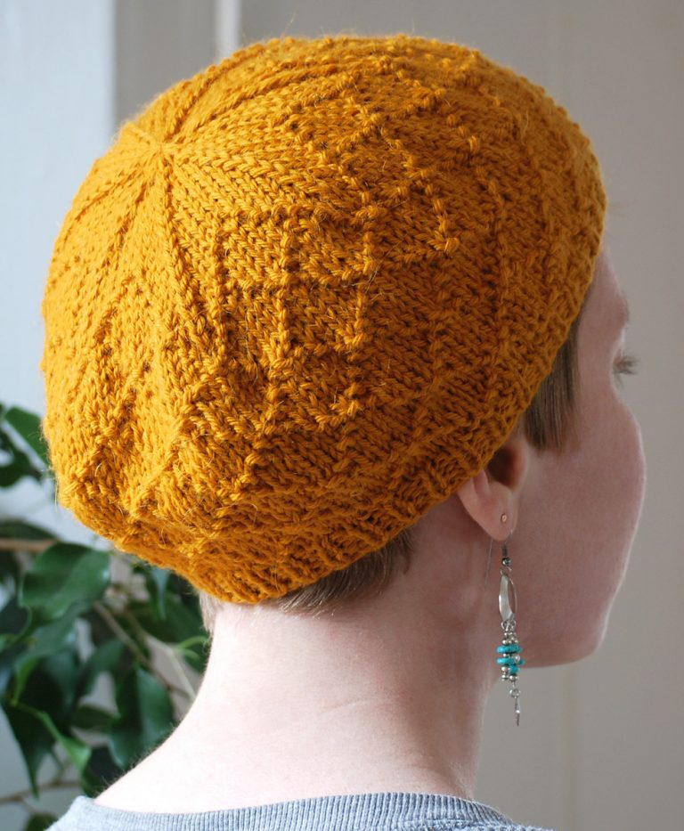 Free Knitting Pattern for Diamond Cap Beret