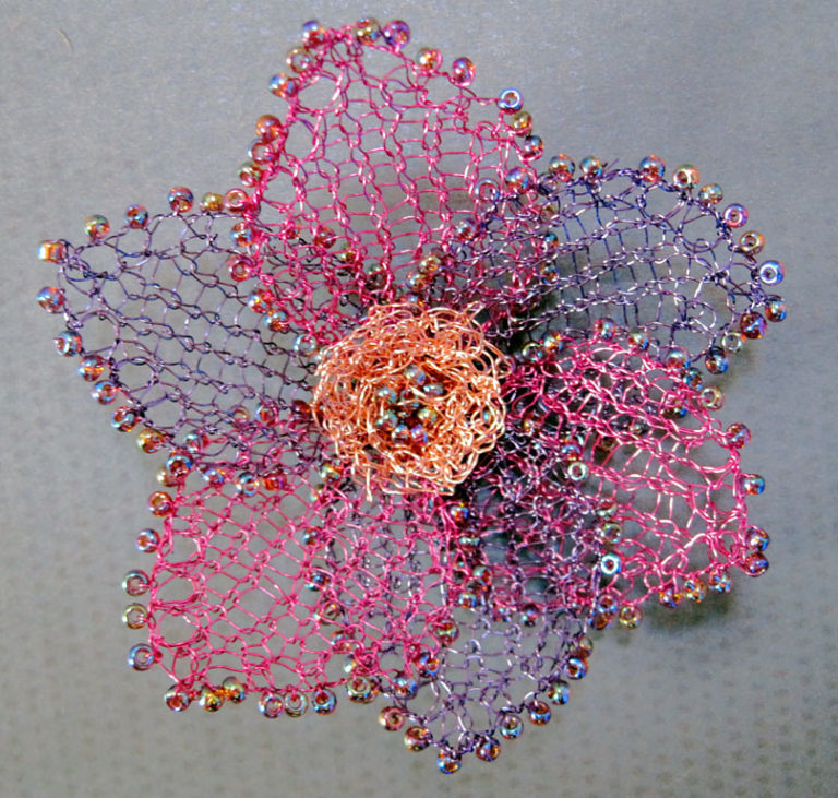 Free Knitting Pattern for Diamond Jubilee Wire Flower