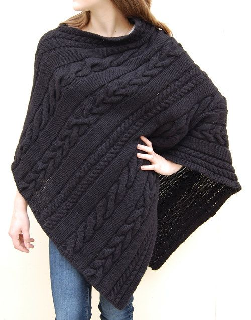 Easy Poncho Knitting Patterns- In the Loop Knitting