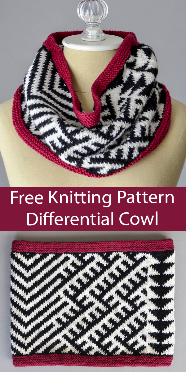 Free Cowl Knitting Pattern Differential Cowl