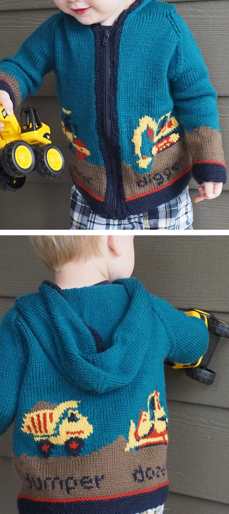 Free Knitting Pattern on Digger Jacket
