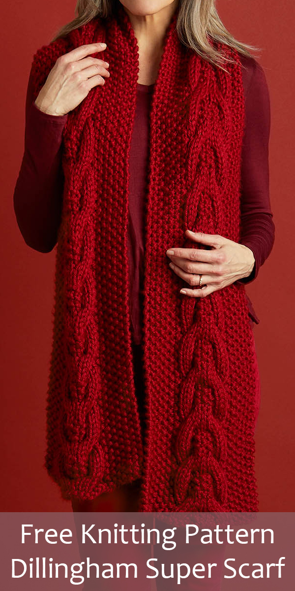 Free Knitting Pattern for Dillingham Super Scarf
