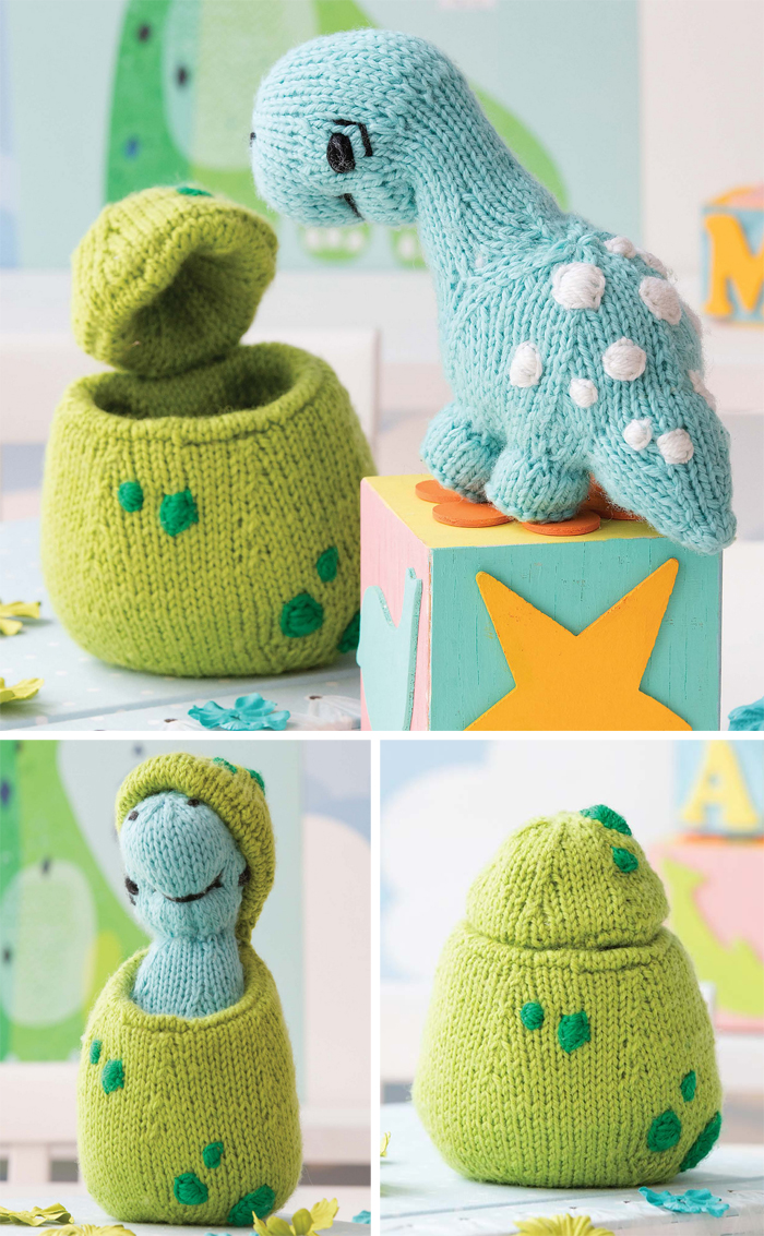 Knitting Pattern for Dinosaur Hatchling