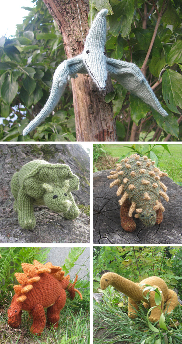 Knitting patterns for Dinosaur Toys