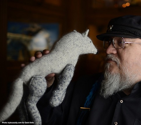 Knitting pattern for Dire Wolf toy