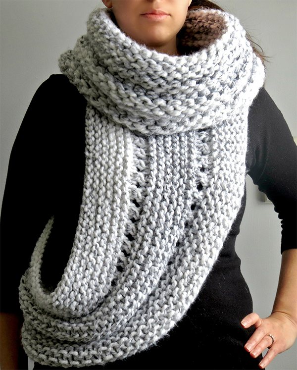 Free Knitting Pattern for Hunger Games District 12 Cowl Wrap