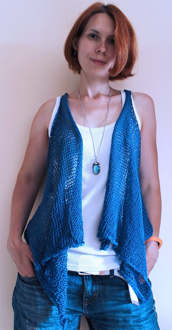 Free Knitting Pattern for Easy Diumenge Vest