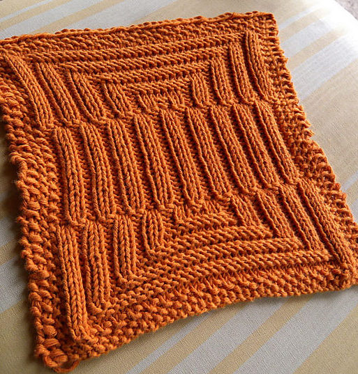 Free Knitting Pattern for Dizzy and Jumpy Dish Cloth