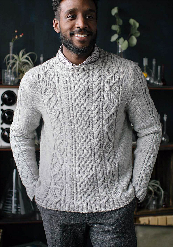 Knitting Pattern for DNA Pullover
