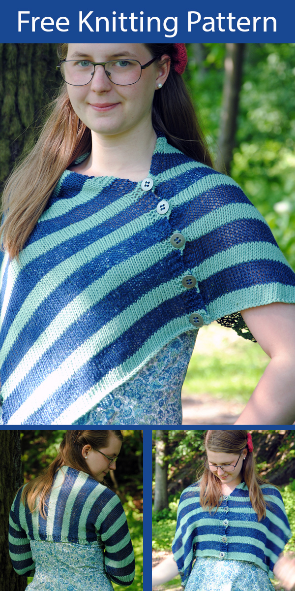 Free Knitting Pattern for Versatile Poncho in 1 Piece Do What You Want