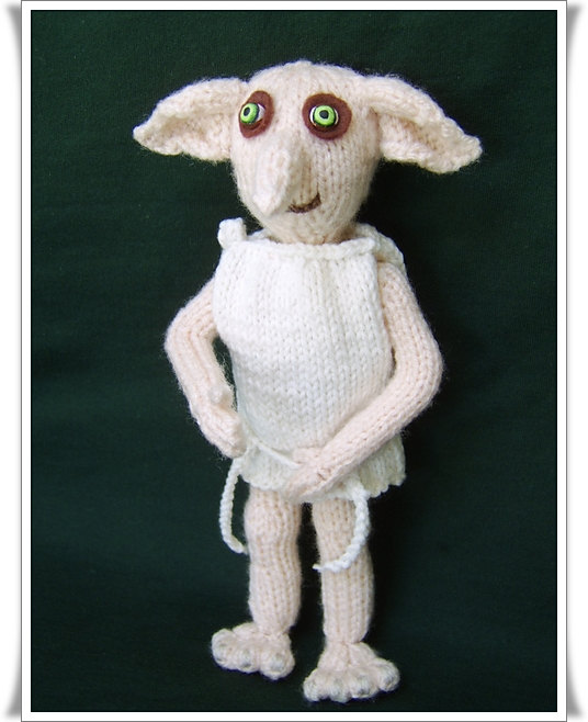 Dobby the House Elf Knitting Pattern | Harry Potter inspired Knitting Patterns, many free knitting patterns