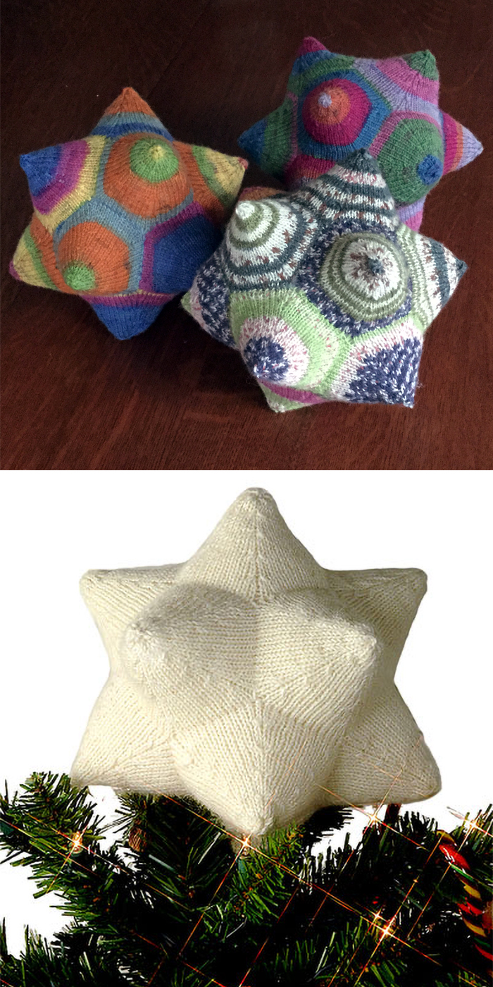 Free Knitting Pattern for Celestine Dodecahedron