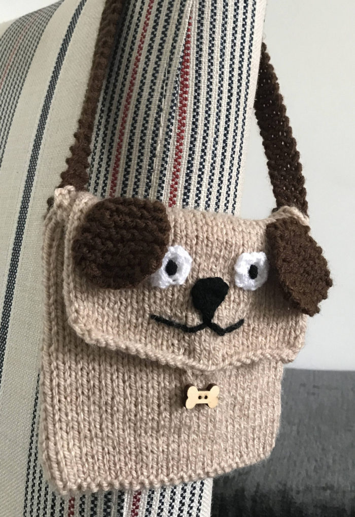 Knitting Pattern for Puppy Purse