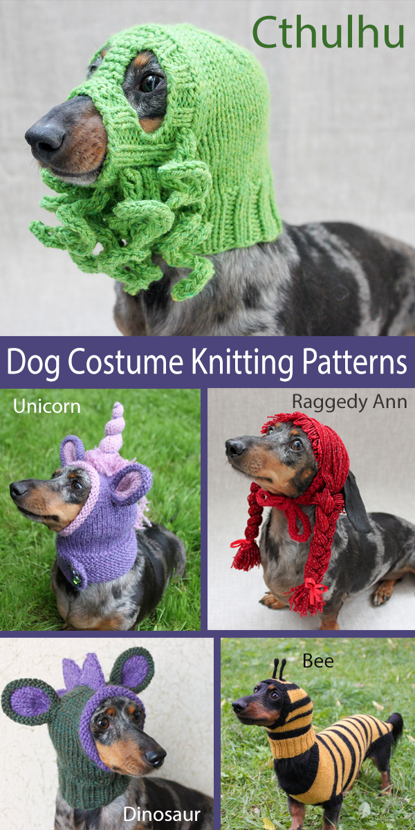 Knitting Pattern for Dog Costumes and Hats