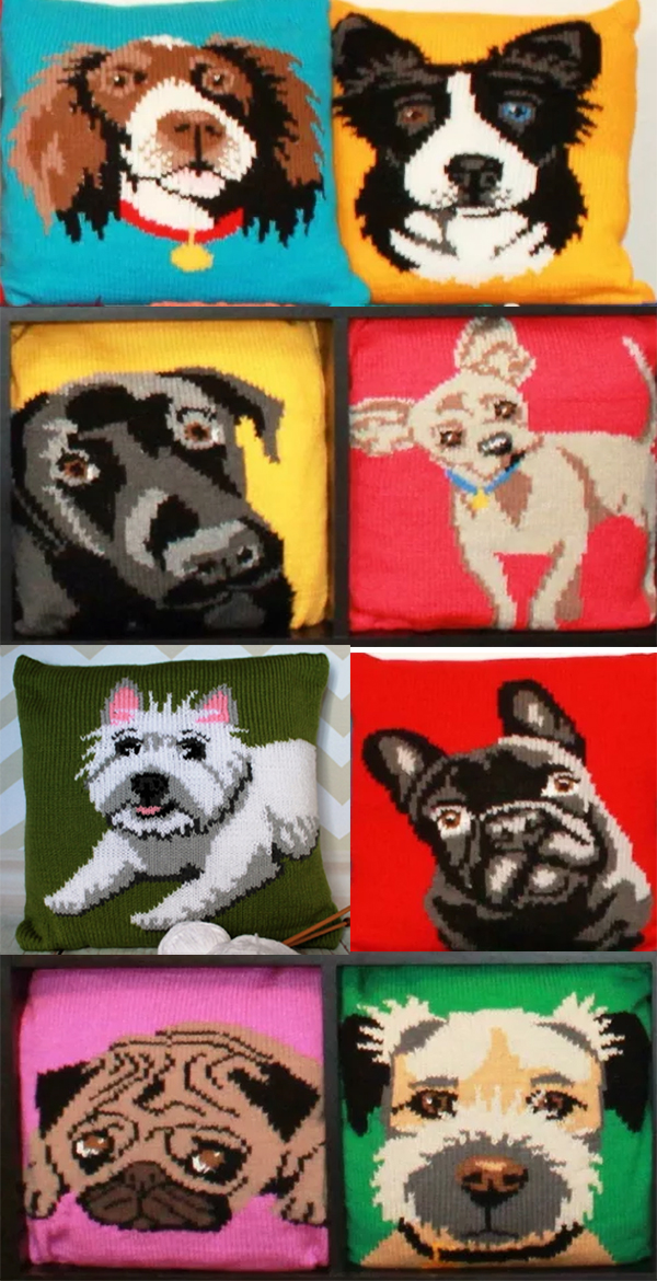 Knitting Pattern for Dog Cushion Covers