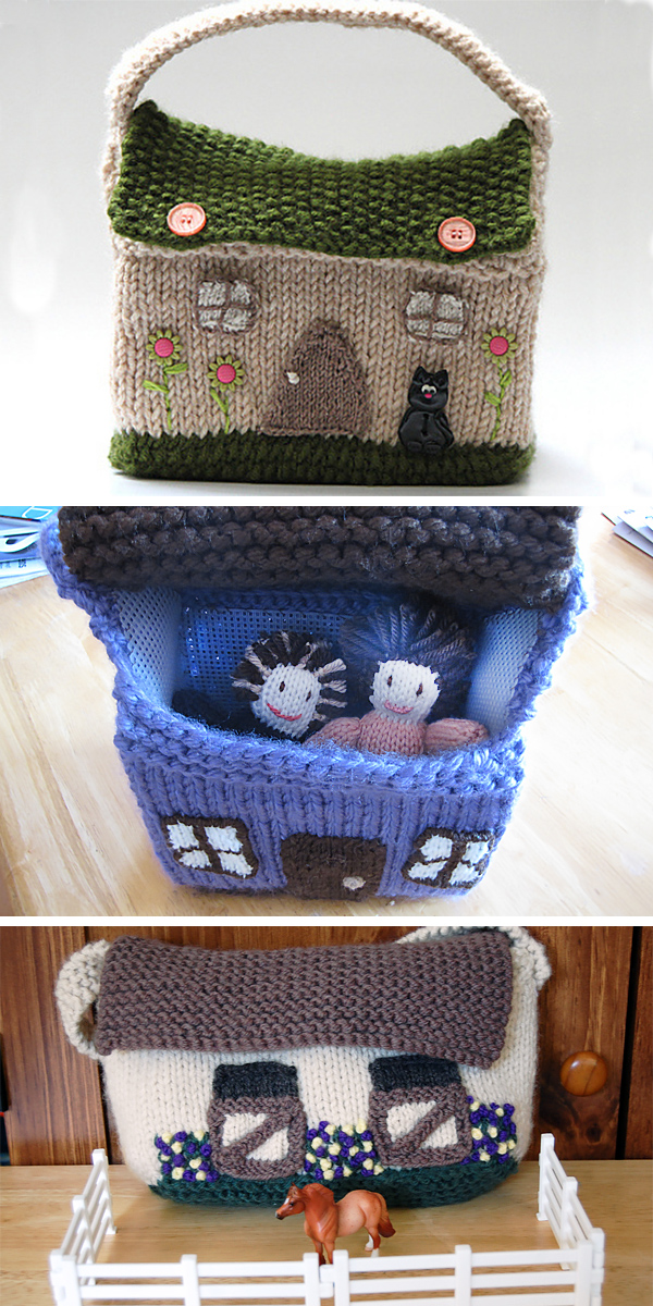 Free Knitting Pattern for Dollhouse Purse
