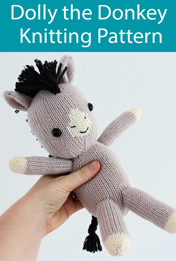 Knitting Pattern for Donkey Toy
