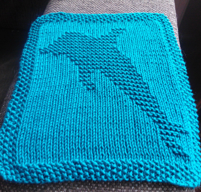 Free Knitting Pattern for Dolphin Wash Cloth