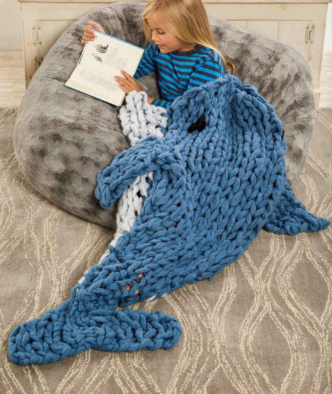 Free Knitting Pattern for Dolphin Sleep Sack