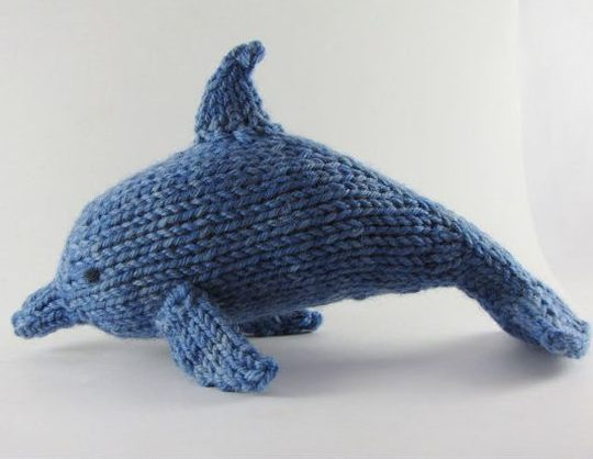 Knitting Pattern for Dolphin Toy
