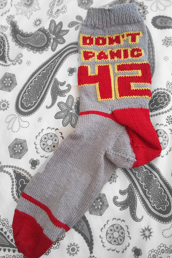 Free Knitting Pattern for Don't Panic Sporty Socks