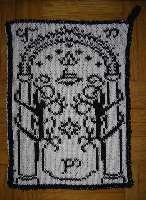 Free knitting chart pattern for Doors of Duria - Gate of Moria