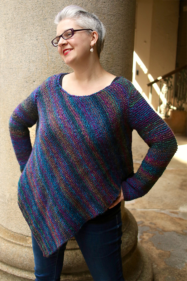 Free Knitting Pattern for Dorrance Poncho