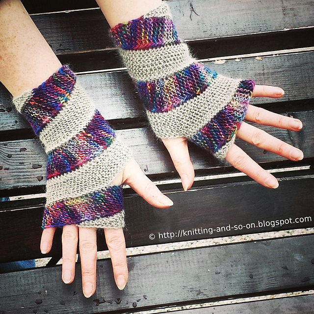 Double Helix Mitts Free Knitting Pattern