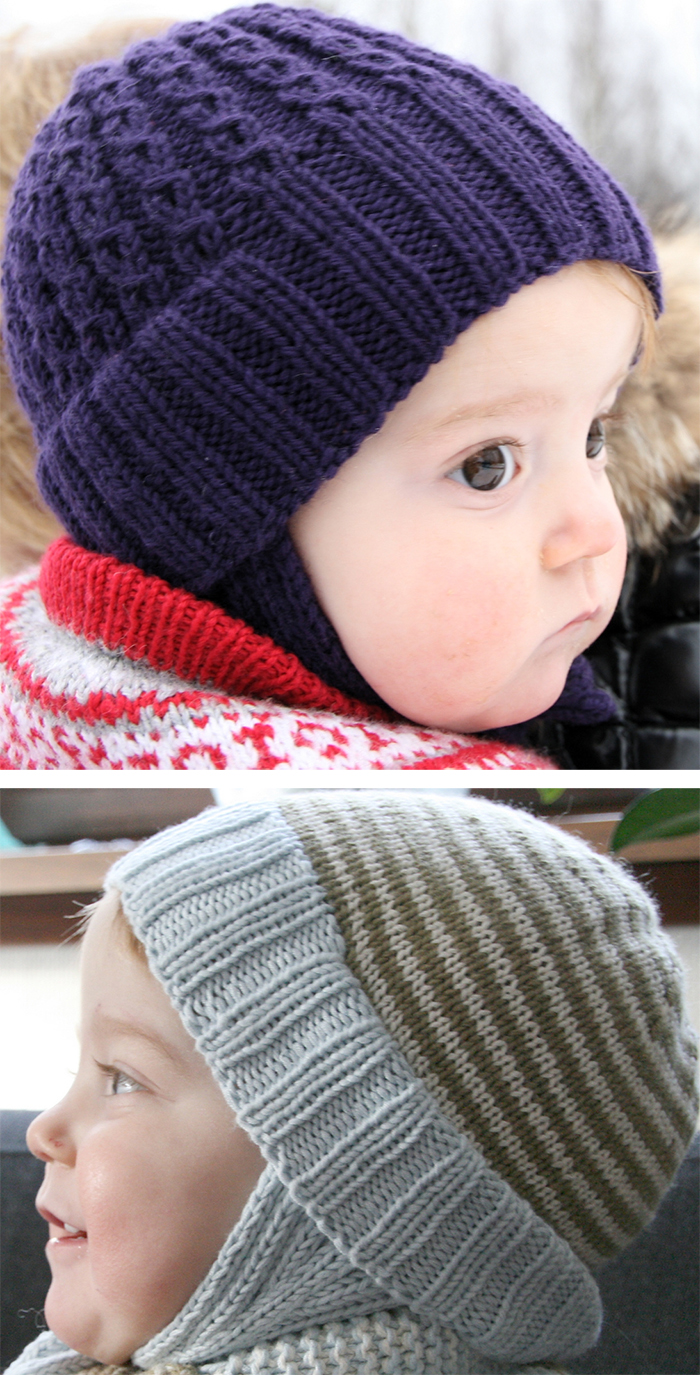 Free Knitting Pattern for Double Rib Toddler Hat