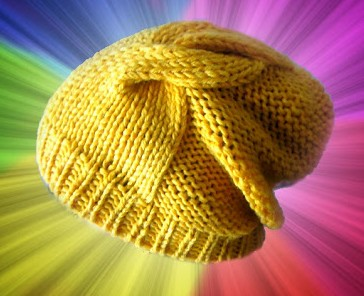 Free knitting pattern for Double Twist Hat slouchy beanie
