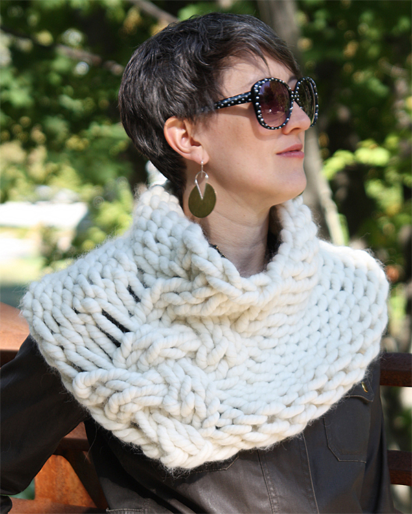 Free Knitting Pattern for Downtown Wrap
