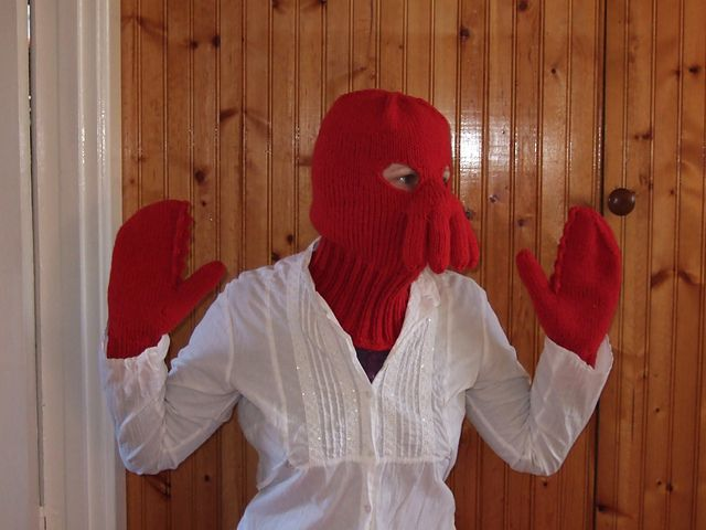 Free knitting pattern for Dr Zoidberg and more movie and tv knitting patterns