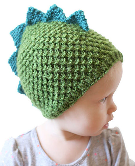 Knitting Pattern for Dragon or Dinosaur Baby Hat