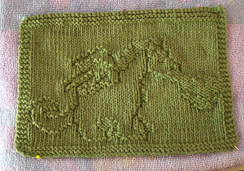 Free Knitting Pattern for Dragon Cloth