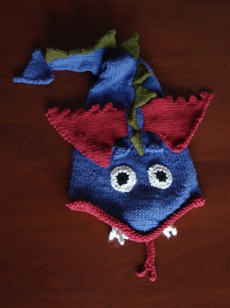 Free knitting pattern for Dragon Hat