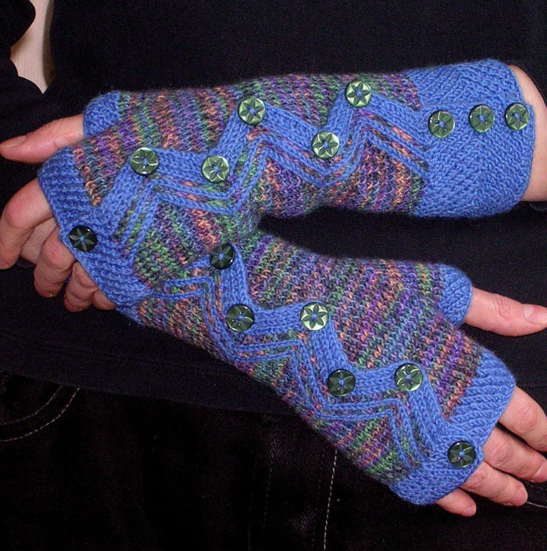 Knitting Pattern for Zigzag Mitts