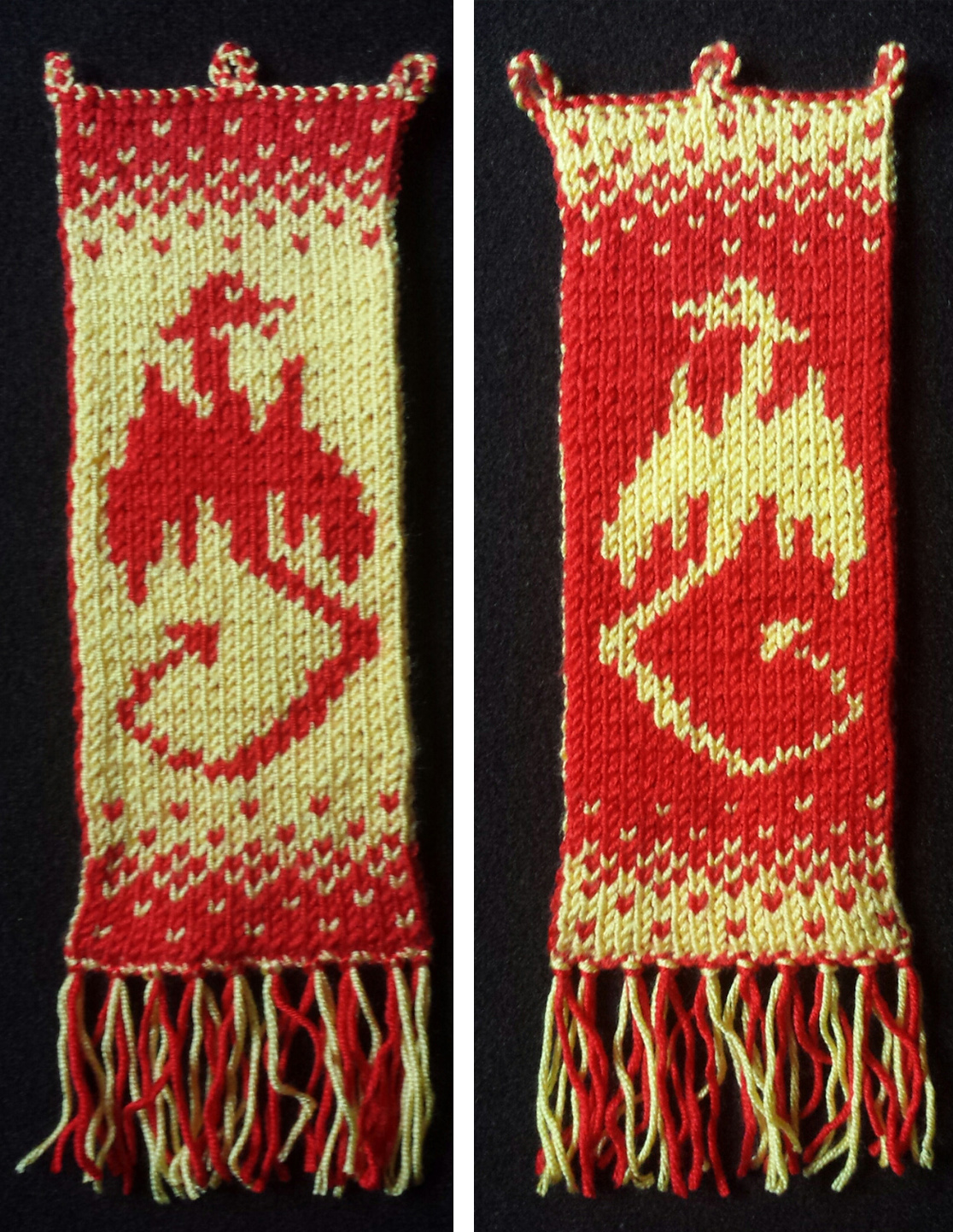 Free Knitting Pattern for Dragon Wall Hanging