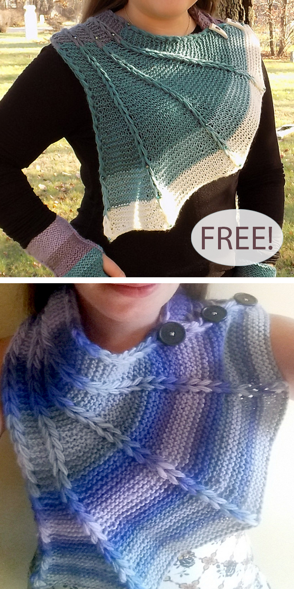 Free Knitting Pattern for Dragon Wing Cowl
