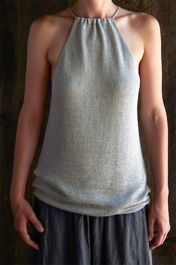 Free Knitting Pattern for Drawstring Camisole