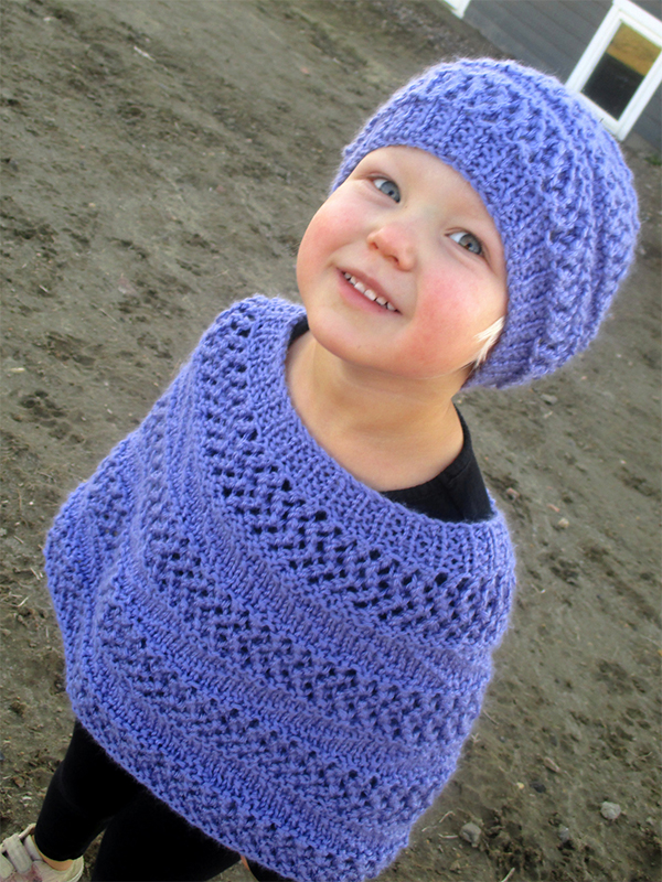 Knitting Pattern for Baby and Child Dream Poncho