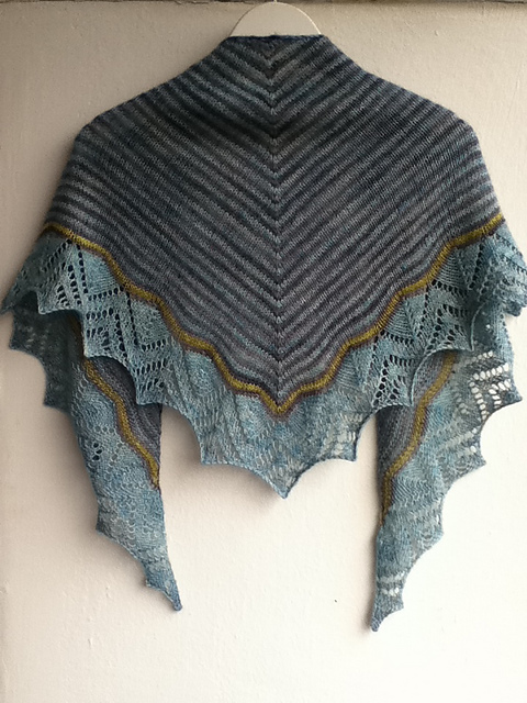 Free knitting pattern for Dream Stripes Shawl