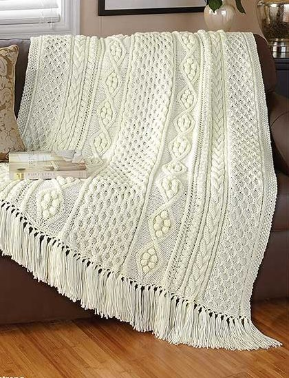 Knitting Pattern for Dreams of Ireland Afghan