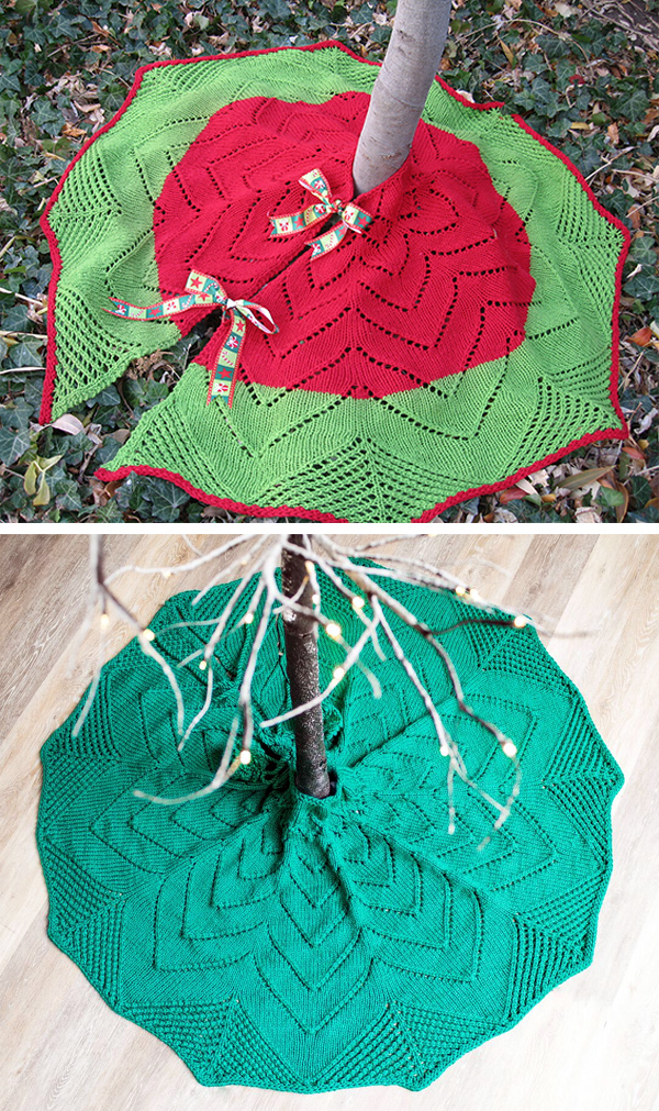 Knitting Pattern for Christmas Tree Skirt
