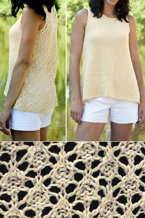 Free knitting pattern for Driftwood Tank