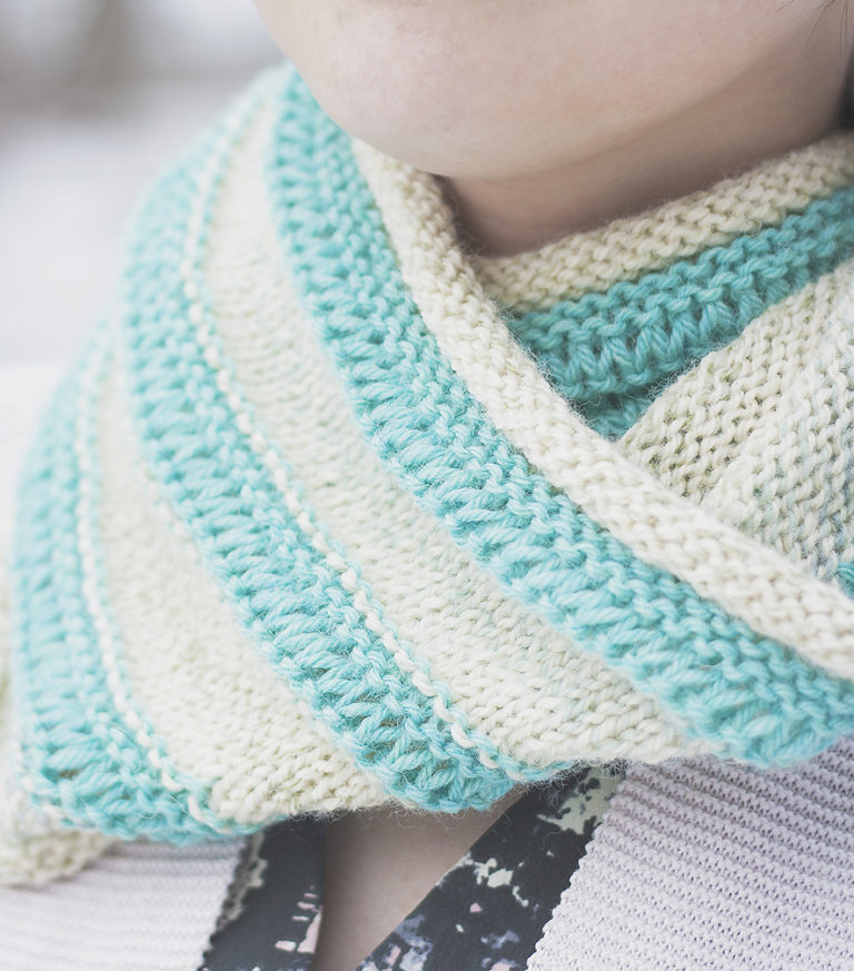 Free Knitting Pattern for Easy Drop Stitch Cowl