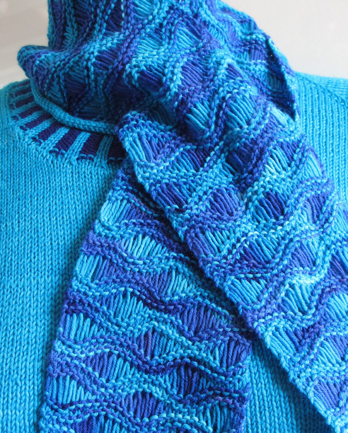 Free Knitting Pattern for Easy Drop Stitch Scarf