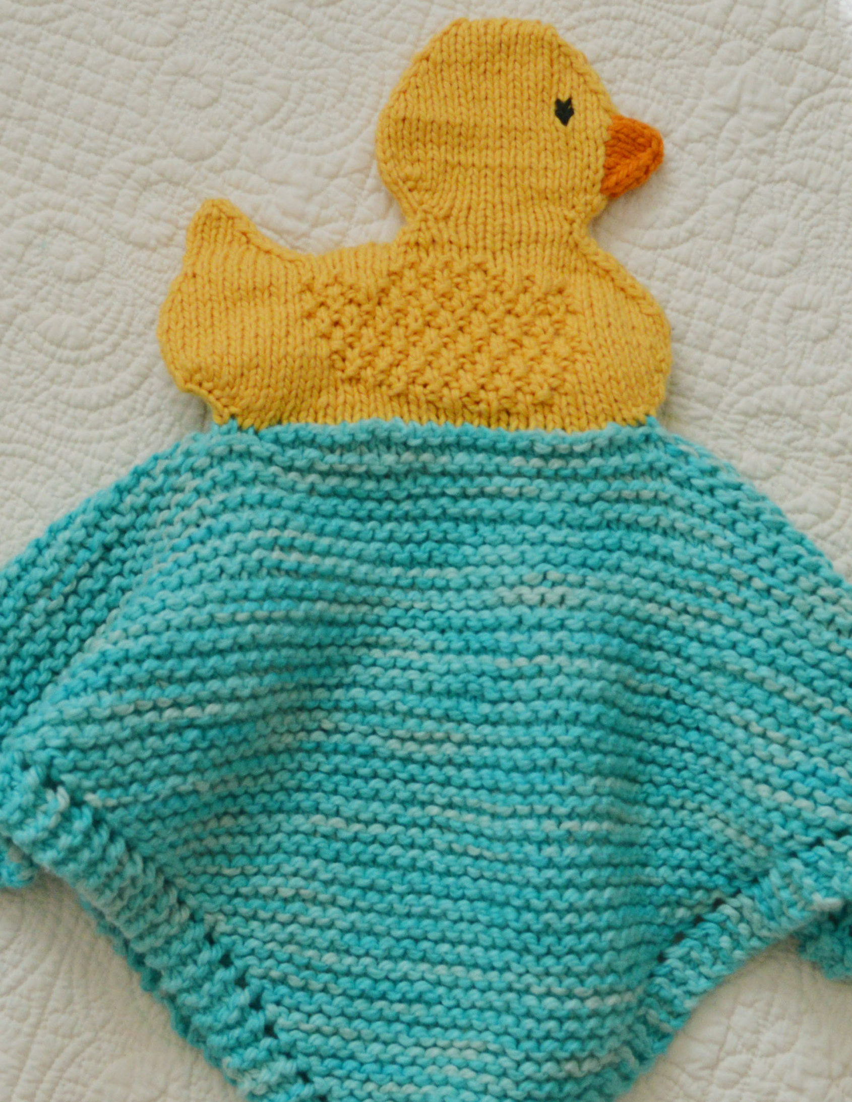 Knitting Pattern for Duckie Lovey
